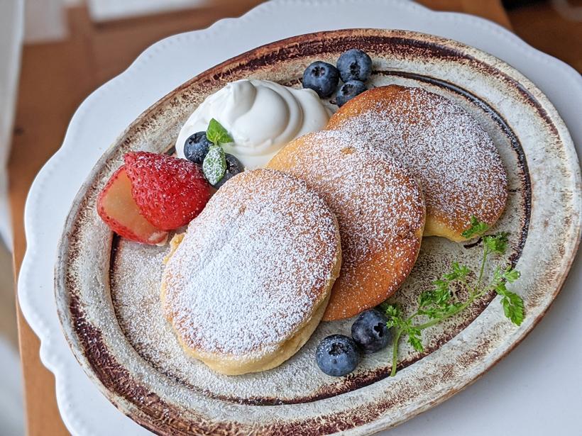 自然栽培米粉スフレパンケーキ