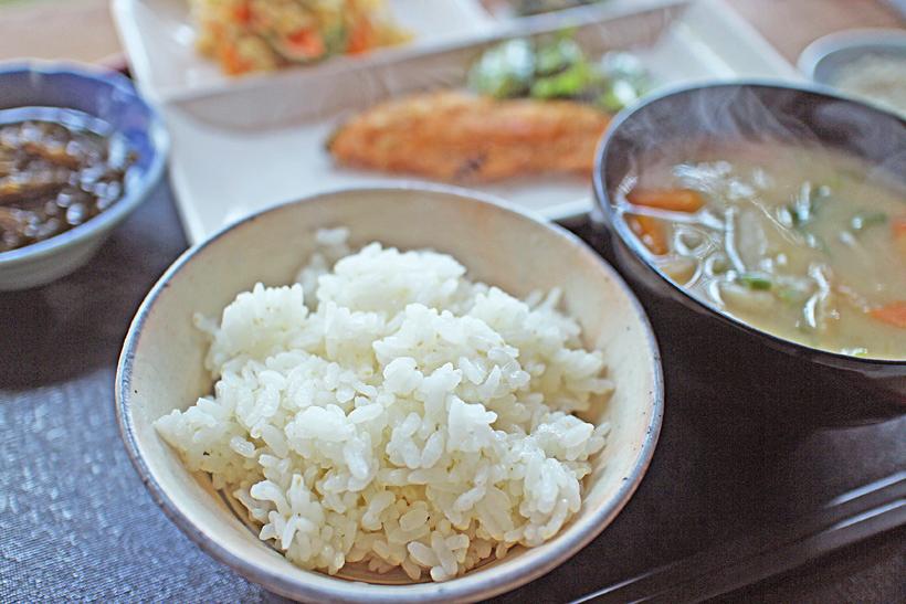 山野自然栽培米炊き立てご飯