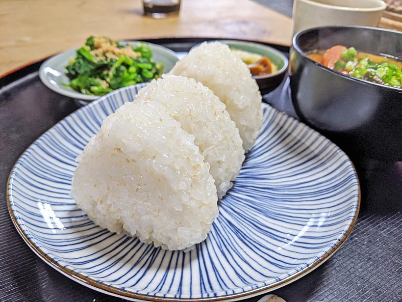 自然栽培米のおにぎり