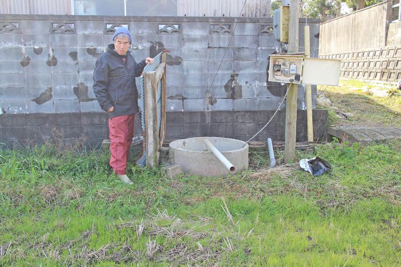 山野さん田んぼの水を引く井戸