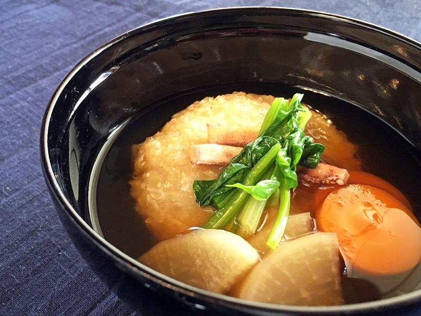 緑玄米もち雑煮