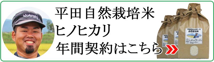 平田自然栽培米ヒノヒカリ年間契約