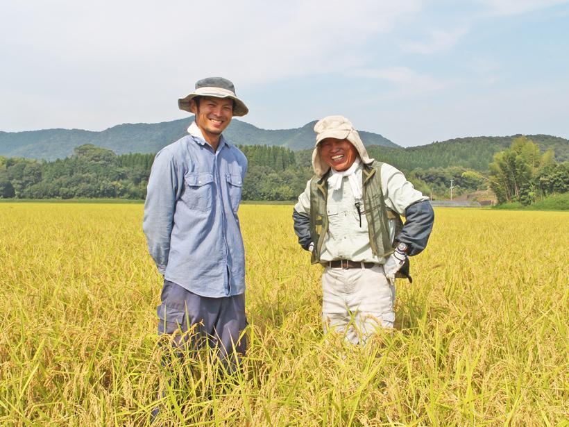 自然栽培米農家川﨑親子